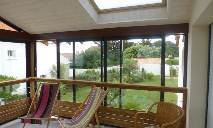 extension sur une terrasse existante gr ce une v randa civel civel. Black Bedroom Furniture Sets. Home Design Ideas
